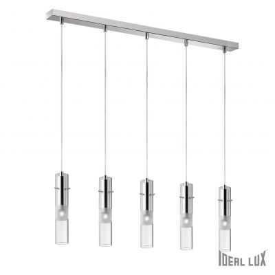 Luster Ideal Lux Bar 5 x 40W G9 krom