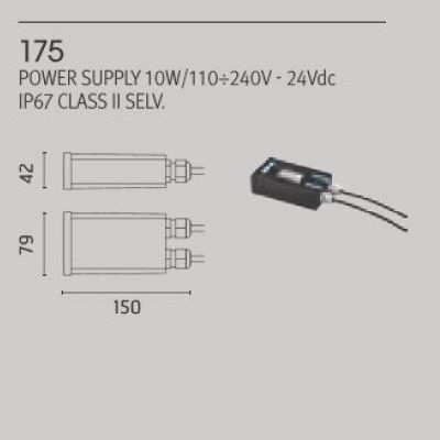 Led napajanje 10W IP 67 Ares 175