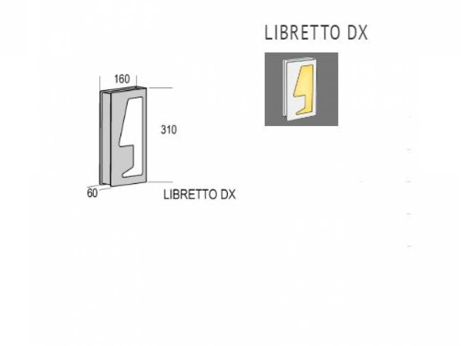 Zidna lampa Kreadesign Libretto DX LED Cijena