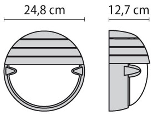 Zidna ili stropna lampa Prisma Chip Tondo 25  Grill Ø 24,8