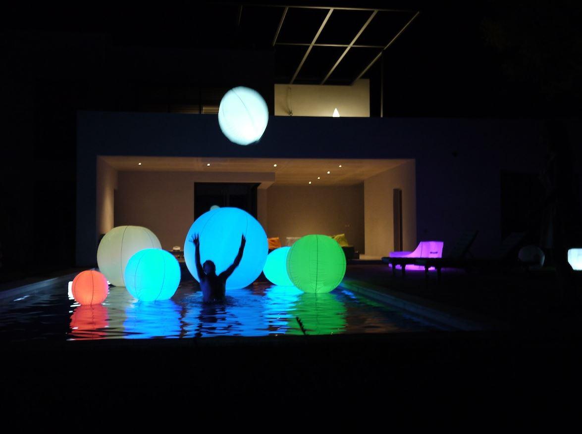 Bežična LED lampa Smart&Green Bubble IP68