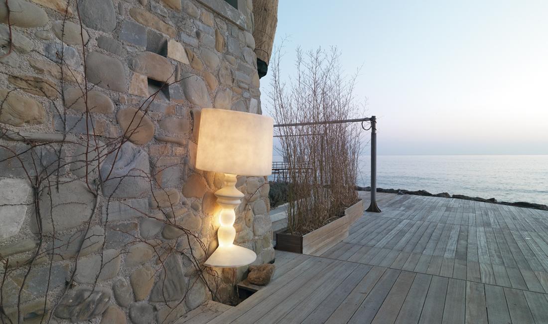 Vanjska zidna ili podna lampa Karman ALIBABIG