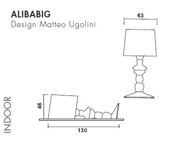 Zidna ili podna lampa Karman ALIBABIG