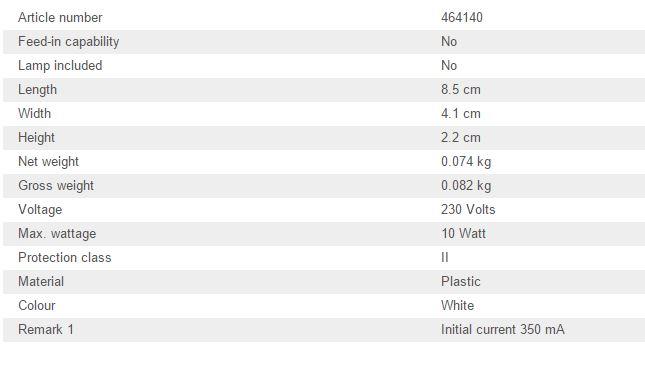 Led napajanje SLV 10W, 350mA dimabilno 464140