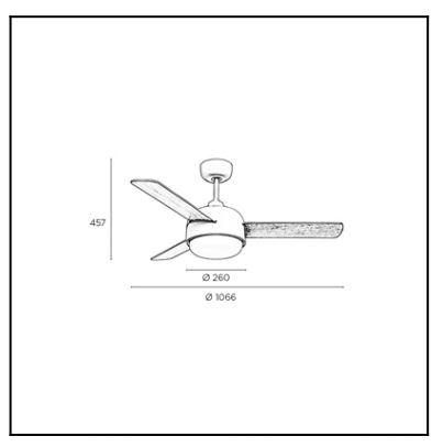 Luster - ventilator Leds-c4 KLAR Ø260