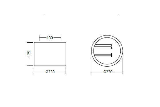 Stropna lampa OMS TUBUS 291polished 1x13W,TC-D,MB B2,9003