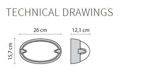 Zidna ili stropna lampa Prisma Chip Ovale 25 005700