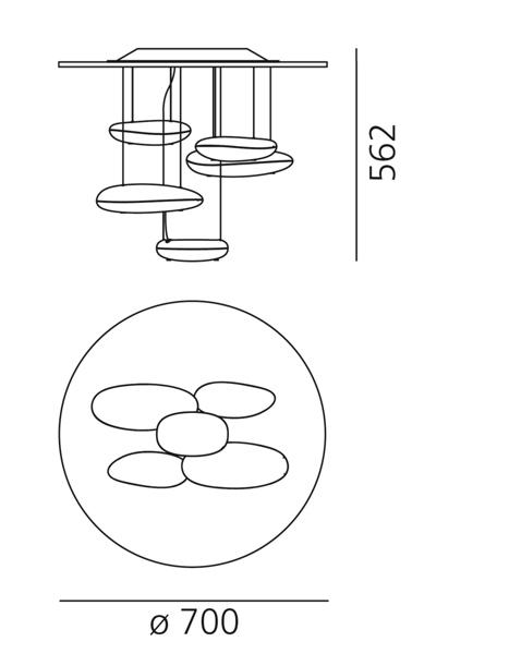 Stropna lampa Artemide Mercury mini Ø 700