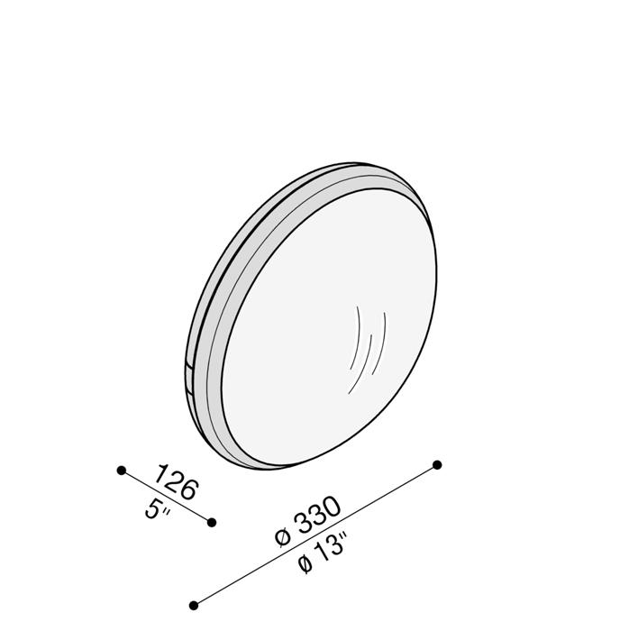 Zidna ili stropna svjetiljka sa senzorom pokreta Lombardo Class tonda 330 IP65 2xE27