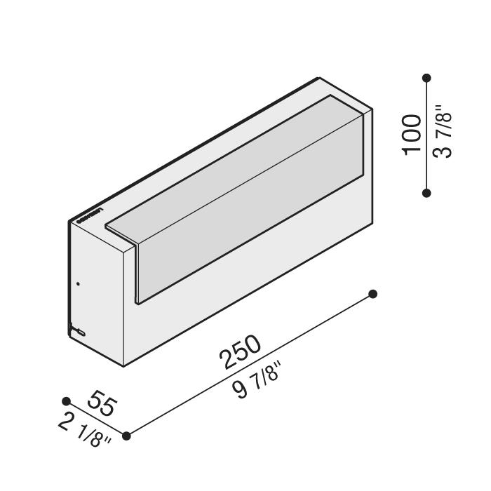 Vanjska zidna ili stropna LED svjetiljka sa senzorom pokreta Lombardo LED ART Top 100 IP66 10W