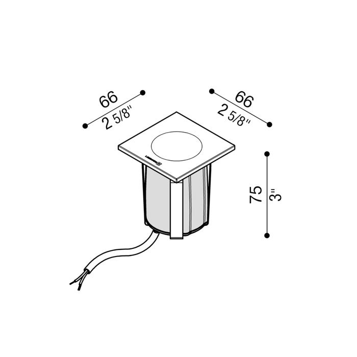Vanjska ugradna svjetiljka Lombardo Stile next zero 60Q 1 LED 3W
