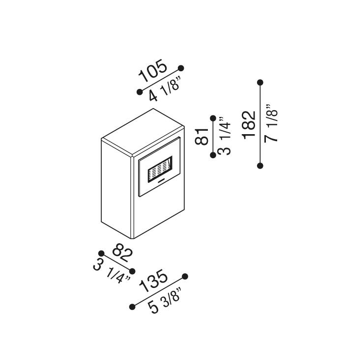Rasvjetni LED stupić Lombardo Kit-12 Stile Next Post IP66 3W