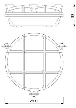 Zidna ili stropna svjetiljka Laura Suardi 2028.L E27 - mesing IP54
