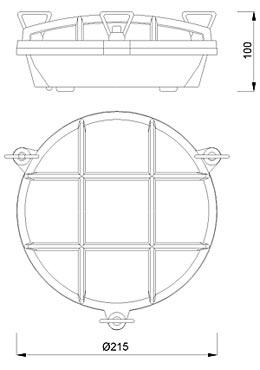 Zidna ili stropna svjetiljka Laura Suardi 2027.L E27 - mesing IP54
