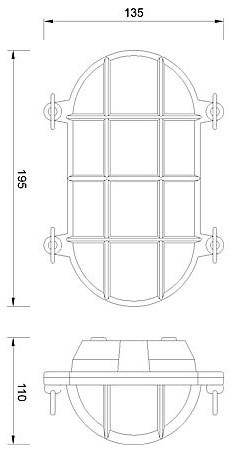 Zidna ili stropna svjetiljka Laura Suardi 2035B.L E27 - mesing IP54
