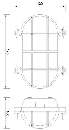 Zidna ili stropna svjetiljka Laura Suardi 2036.L E27 - mesing IP54