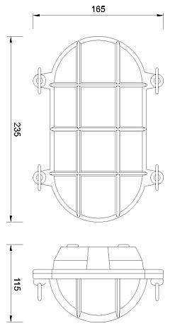 Zidna ili stropna svjetiljka Laura Suardi 2035.L E27 - mesing IP54