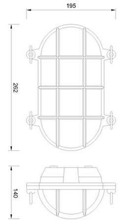 Zidna ili stropna svjetiljka Laura Suardi 2034.L E27 - mesing IP54