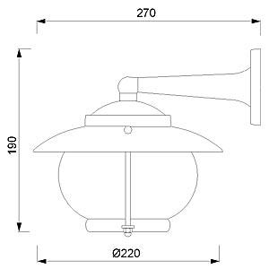 Zidna svjetiljka Laura Suardi 2118.LT E27 - mesing IP43