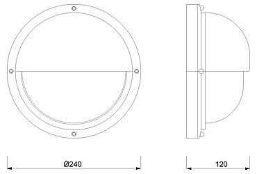 Zidna svjetiljka Laura Suardi 2225.L E27 - mesing IP54