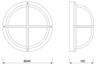 Zidna svjetiljka Laura Suardi 2226.L E27 - mesing IP54