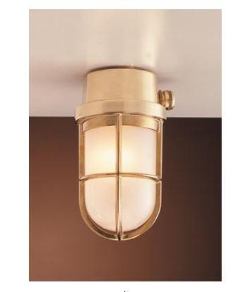 Zidna ili stropna svjetiljka Laura Suardi 2296.L E27 - mesing IP44
