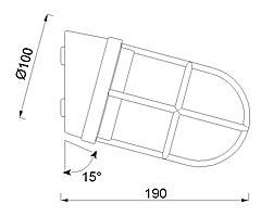 Zidna ili stropna svjetiljka Laura Suardi 2297.L E27 - mesing IP44