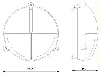 Zidna svjetiljka Laura Suardi 2427.L E27 - mesing IP54