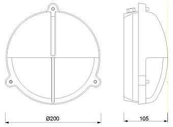 Zidna svjetiljka Laura Suardi 2428.L E27 - mesing IP54