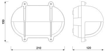 Zidna svjetiljka Laura Suardi 2435B.L E27 - mesing IP54