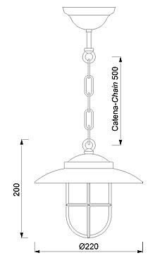 Ovjesna svjetiljka Laura Suardi 2060B.L E27 - polirani mesing