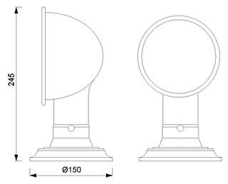 Stolna svjetiljka Laura Suardi 2032.L E27 - polirani mesing