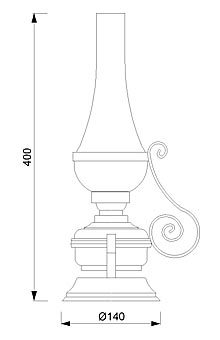 Stolna svjetiljka Laura Suardi 2208.LT E27 - polirani mesing