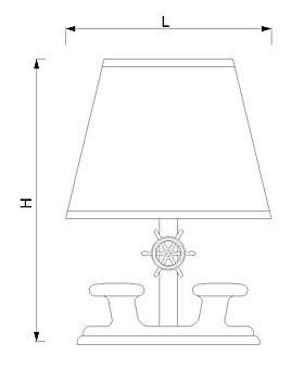 Stolna svjetiljka Laura Suardi 2210B.L E27 - polirani mesing