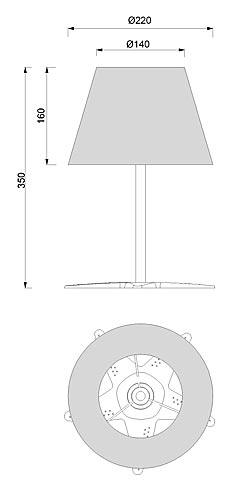 Stolna svjetiljka Laura Suardi 2330.L E14 - polirani mesing