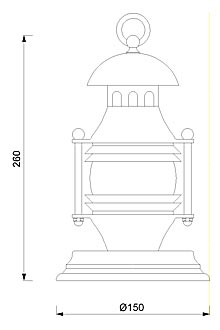 Stolna svjetiljka Laura Suardi 2370L-2371L-2372L E14 - polirani mesing