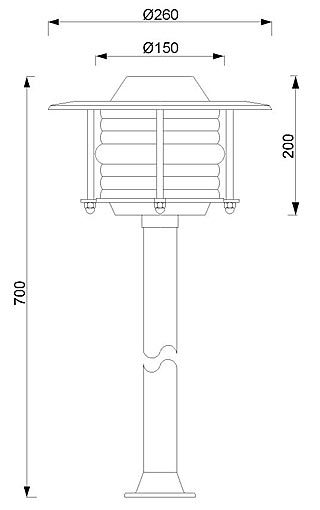 Stupna svjetiljka Laura Suardi 2033.LT E27 - polirani mesing IP43