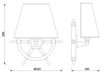 Zidna svjetiljka Laura Suardi 2215.LP E27 - polirani mesing