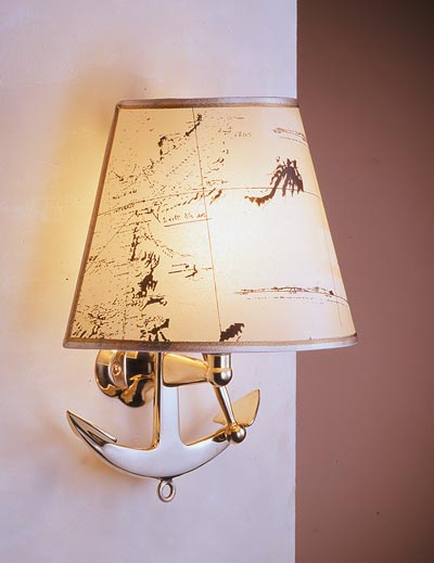 Zidna svjetiljka Laura Suardi 2216.LP E27 - polirani mesing
