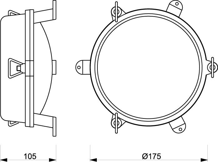Zidna svjetiljka Laura Suardi 2136.L E27 - polirani mesing