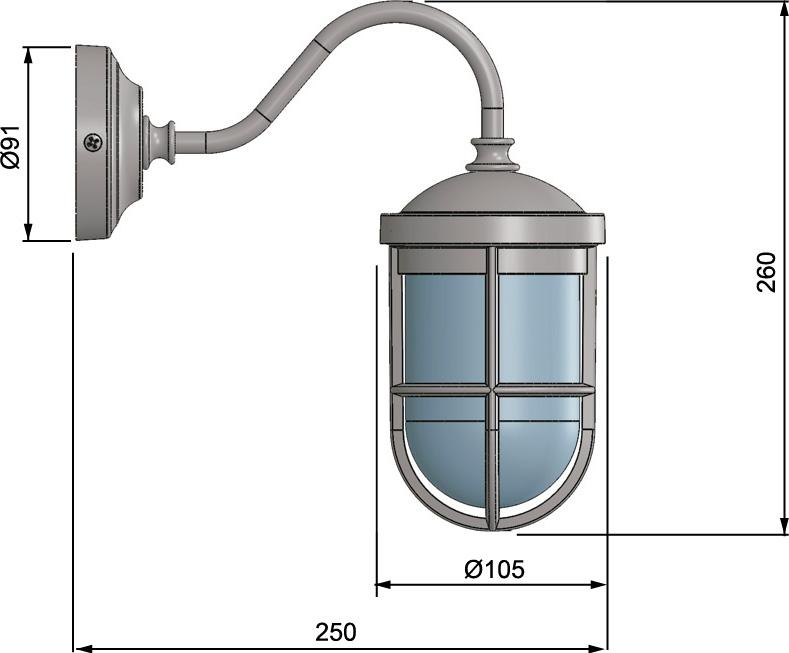 Zidna svjetiljka Laura Suardi 2325.L E27 - polirani mesing