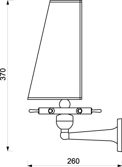 Zidna svjetiljka Laura Suardi 2217.LP E27 - polirani mesing