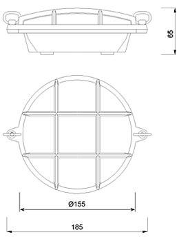 Zidna ili stropna svjetiljka Laura Suardi 2028B.C E27 - kromirani mesing IP54