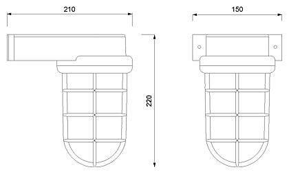 Zidna svjetiljka Laura Suardi 2430A.C E27 - kromirani mesing IP55