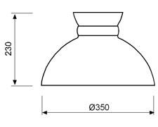 Ovjesna svjetiljka Laura Suardi 3019 E27 - lakirani mesing