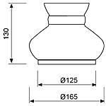 Zidna svjetiljka Laura Suardi 3216 E14 - polirani mesing
