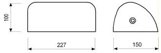 Stolna svjetiljka Laura Suardi 3137 E27 - polirani mesing