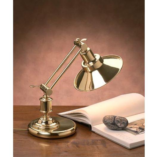 Stolna svjetiljka Laura Suardi 3144 E27 - polirani mesing