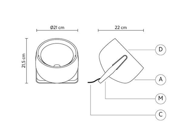 Stolna ili podna lampa Karman BAG