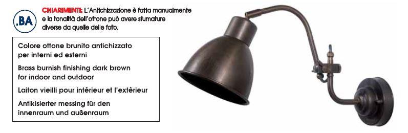 Vanjska zidna svjetiljka Moretti Luce 3303.T IP44 E27 max 52W